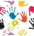 hand prints seamless vector image vector image