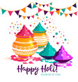 indian festival of happy holi colorful background vector image vector image