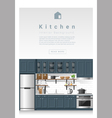 Interior design Modern kitchen banner 4 vector image vector image