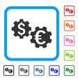 international financial mechanics framed icon vector image vector image