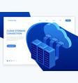 isometric modern cloud technology and networking vector image vector image