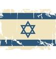 Israeli grunge flag vector image vector image