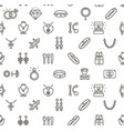 jewelry sign seamless pattern background vector image