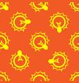 lightbulb seamless pattern vector image
