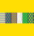 mardi gras background seamless pattern set vector image vector image