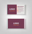 modern business card template design vector image vector image
