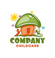 modern kindergarten and nature logo vector image vector image