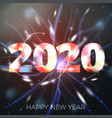 new year with bright bokeh vector image vector image