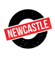 newcastle rubber stamp vector image vector image