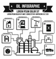 Oil Industry Infographic simple style vector image vector image