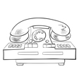 Old fashioned phone vector image