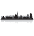 Ottawa Canada city skyline silhouette vector image vector image
