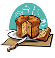 panettone cake vector image vector image