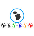 person opinion rounded icon vector image