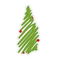 Pine tree icon Merry Christmas design vector image vector image