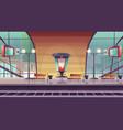 railway station empty railroad platform for train vector image