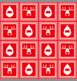 red checkered pattern new year christmas vector image vector image
