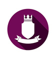 Royal security emblem simple shield with crown and vector image vector image