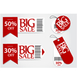 Sale card red promotion percentage retail vector image vector image