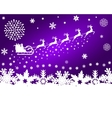 Santa Claus in sled rides in the reindeer vector image vector image
