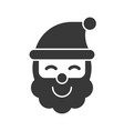 santa claus merry christmas icon set solid design vector image vector image