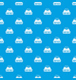 shop meat pattern seamless blue vector image