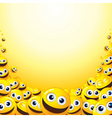 smiley backdrop vector image vector image