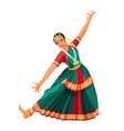solo dance performed by girl with hindi vector image vector image