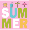 summer composition with coloring elements design vector image