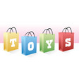 toys shopping bags vector image vector image
