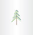 tree christmas symbol vector image vector image