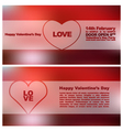 Valentines day heards cards 6 vector image