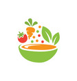 vegetable food icon design template isolated vector image
