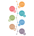 Vertical Timeline Template vector image