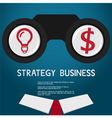 Vision and strategy for success business vision co vector image vector image