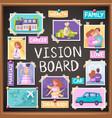 vision board planner vector image vector image