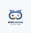 wise gaming abstract sign symbol or logo vector image vector image