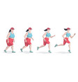 woman running to lose weight workout at outside vector image