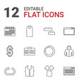 12 template icons vector image vector image