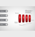 3d infographic template with cylinder vertically vector image