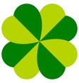 abstract 4-leafed clover graphic luck fortune vector image