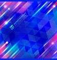 abstract blue geometric motion with lighting glow vector image vector image