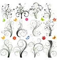 abstract floral background set vector image vector image