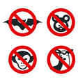Animal denied design vector image