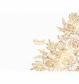 beautiful modern floral background design vector image vector image