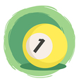 Billiard Ball Number 1 Yellow vector image vector image