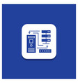 blue round button for combination data database vector image vector image