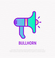 bullhorn thin line icon vector image vector image