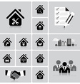 Business And Real Estate Icon Set vector image vector image