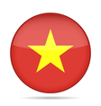 button with flag of Vietnam vector image